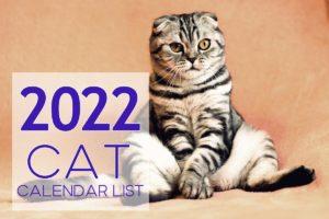 cat calendar list 2022